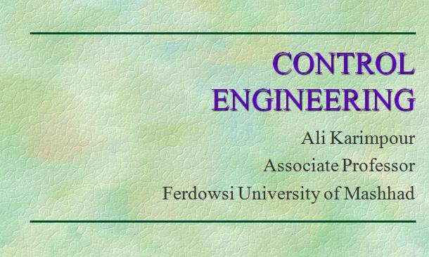 جزوء درس مهندسی کنترل