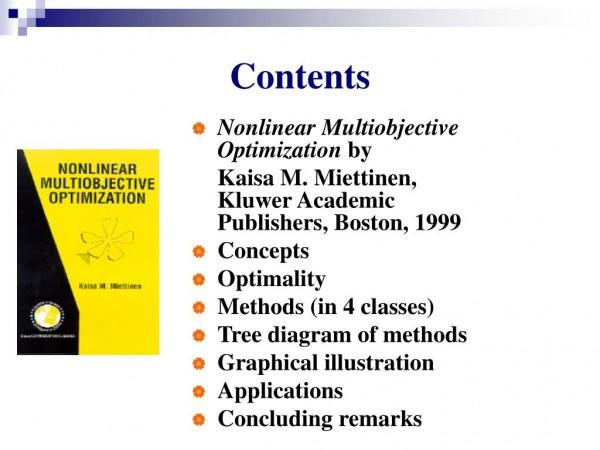 کتاب بهینه سازی چندهدفه غیرخطی